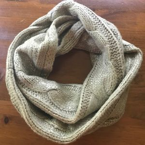 Loft Metallic Cable Knit Scarf